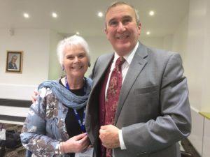 Thérèse Williams with Professor Gervase Phinn